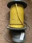 "500 +or- foot roll of 1/4"" steel cable, spool of nylon rope"