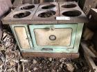 Knox New Meteor wood cook stove, as-is, green front, missing side and eyes