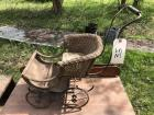 Antique wicker child's doll buggy as-is