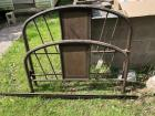 Antique iron bed w/ original rails