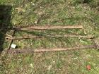3 antique  cross cut saws, as found