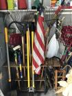 Lot of garden tools: shovels, pick, post hole diggers, rakes, pruners