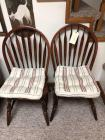 Pair of wooden side chairs