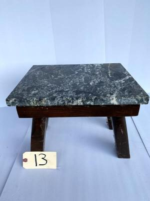 Milk stool; piece of marble