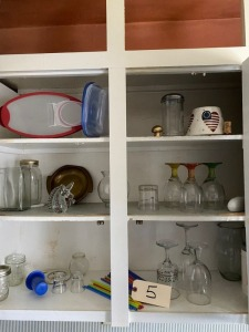 Cabinet lot - Glassware, everything in upper cabinet