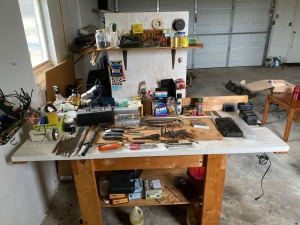 Work bench w/tools, etc. eveything on it