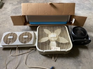 3 fans - Wind Dance, Galaxy, Honeywell, newer oven vent fan