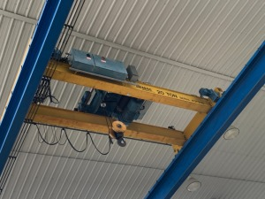 Demag gantry crane 20 ton hoist - wirelessly operated w/ 2 pendants - 20 foot span (has been taken down for ease of removal)