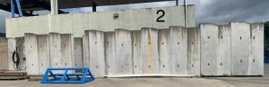"29 sections of concrete shielding blocks - some 12"", some 18"" - buyer responsible for removal"