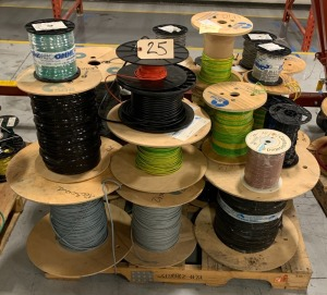 Pallet of various wiring