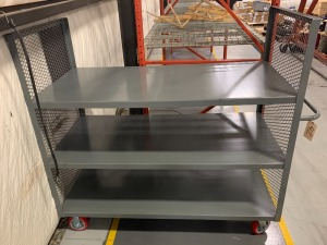 Steel transfer cart - 3 shelves