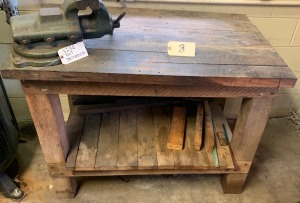 Oak shop table (vise not included)