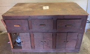 Hand made shop cabinet w/ contents