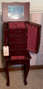 Princess/Queen Anne jewelry chest as-is