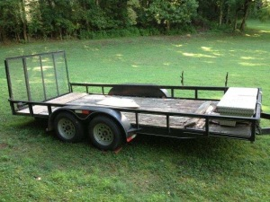 Dual axle trailer: 6.5ft. x 16ft. (tool box NOT included)