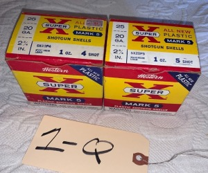 2 boxes of 20 gage ammunition - 2 3/4in.