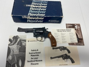 Smith & Wesson model 34 double action revolver .22 LR 6 shot 3 1/4in. barrell