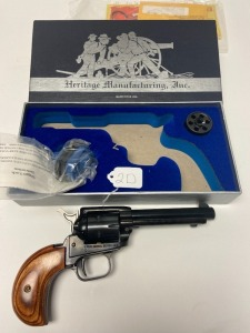 "Heritage ""Rough Rider"" .22 combo .22 mag, 4in. barrel blued, made in USA"