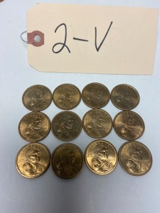 Sacagawea gold colored $1 dollar coins, 2000P - lot of 12