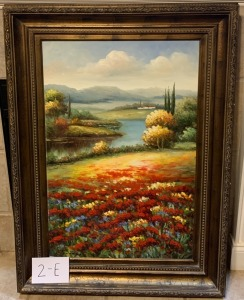 "Large signed Oil Painting 34"" x 36'"""