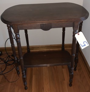 Antique radio table w/ Reese wooden legs
