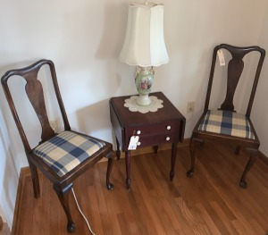 2 antique Queen Anne style chairs (table and lamp NOT included)