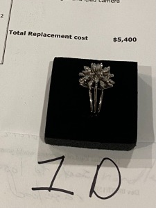 Ladies Antique Style 1.2 cts Coctail Ring. S12 colorless diamonds. Attached appraisal for $5400.00