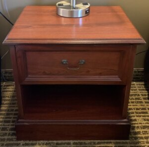 Solid wood nightstand - Room 106