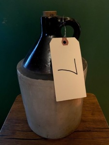 1 gallon crock - good condition, tiny nick on very top