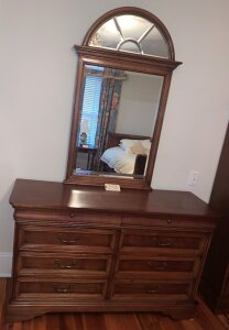Henry Link 8 drawer chest with beveled mirror.  Matches 244, 239, and 249