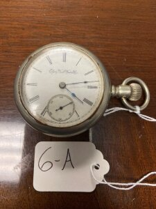 "Elgin pocket watch, ""Safety Pinion"" patented 1884, seems to be working"