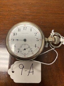 Vigilant pocket watch, silver colored case, seems to be working