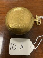 Waltham pocket watch, 21 jewels, 14k gold case marked, runs a few seconds, then stops. As-is. Buyer to verify if gold. - 2