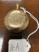 Elgin pocket watch, gold colored case, seems to be working - 3