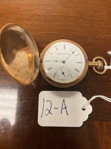 Atlas pocket watch, gold colored case, not working. AS-IS.