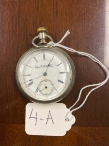 Elgin pocket watch, Patented 1884, seems to be working silver case