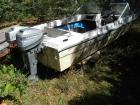 Thundercraft Boat. 2 outboard motors. Buying AS-IS. Boat has been sitting for a period of time and will need to be towed from property. Buyer to make own towing arrangements
