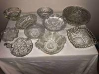 Early American Pressed Glass Bowls - 1 cut glass nappy