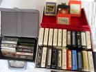 lot of 26 8 track and 10 cassette tapes
