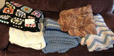 6 assorted Afghans/coverlets