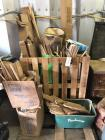Wood lot: wooden dowels, wood forks, other assorted items