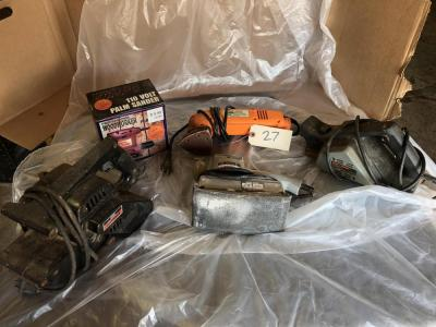 Electric sanders lot: Belt sander and other